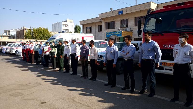 رزمایش دفاع زیستی در اسلام آبادغرب برگزار شد